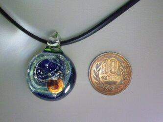 宇宙ガラス、惑星NO.8(ガラス、木星、宇宙、ペンダント)の画像