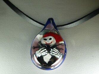 クリスマス、赤い口のジャックNO.2(ガラス、ハロウィン、ペンダント)の画像