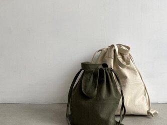 (STITCHED)巾着バッグ:Mediumの画像