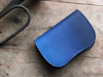 藍染革[shiboai] 二つ折り財布 【天藍】の画像