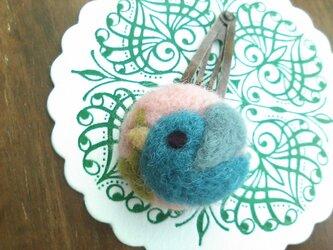 まあるい小鳥のヘアピン(ピンク)の画像