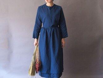 【受注制作】トラディショナルアーミッシュドレス◇アーミッシュブルー *リネン100%素材*の画像