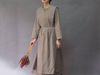 【受注制作】トラディショナルアーミッシュドレス◇モカ *コットンリネン素材*の画像