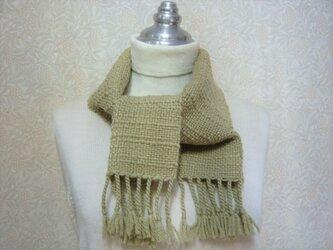 草木染毛糸の手織りマフラー M-130の画像