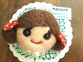大人気♡オンナノコブローチ(ツインテール・こげ茶)の画像