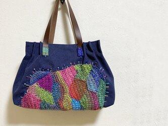 フリーフォーム編み模様かばん(からふる)の画像