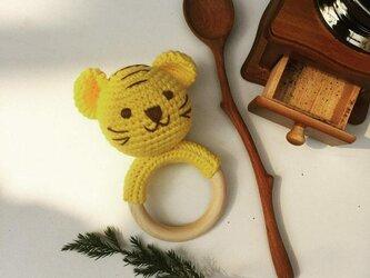 おもちゃ とらちゃん ガラガラ ラトル 0歳 男の子 女の子 編みぐるみ 出産祝い あかちゃん ギフト プレゼントの画像