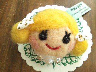 大人気♡オンナノコブローチ(ツインテール・金髪)の画像