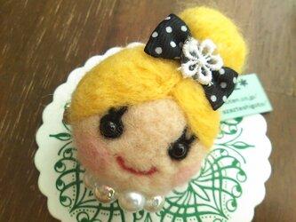 大人気♡オンナノコブローチ(おだんご・金髪)の画像