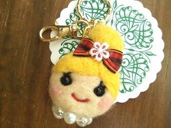 大人気♡オンナノコキーホルダー(おだんご・金髪)の画像