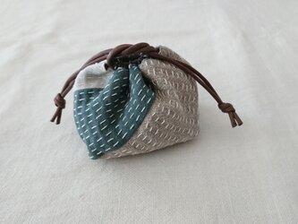 刺し子の幸せ袋(小)の画像