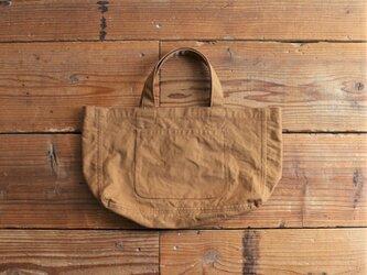 【new color】hanpu A4-tote : cinnamon :の画像