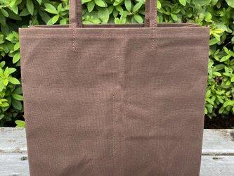 帆布ショッピングバッグ 小 チョコの画像