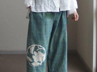 浅葱色!藍パンツ ●82センチ丈●の画像