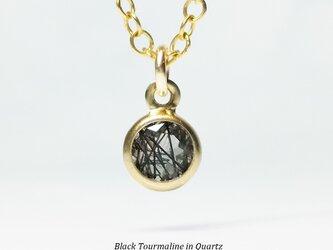 【10月誕生石】クールな輝き。ブラックトルマリンのネックレス [送料無料]の画像