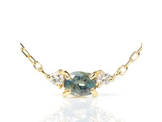 K18 アレキサンドライト×ダイヤモンド ペンダント K18イエローゴールド トリア YK-BH0666CIの画像