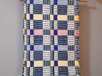 手織りDouble lambsilk -Blue-の画像