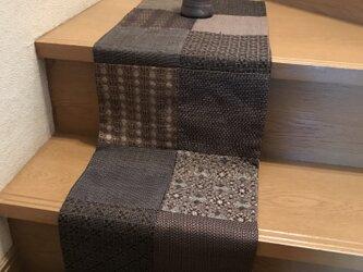 ヴィンテージ大島紬テーブルマット 秋色が並んだよの画像