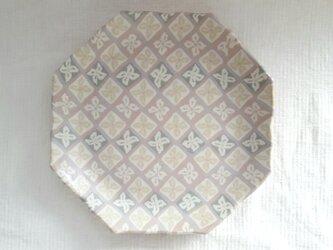 花菱文 八角花平皿 ピンク マット釉薬の画像