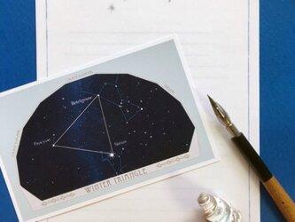 星座カードレター 夏と冬の大三角の画像