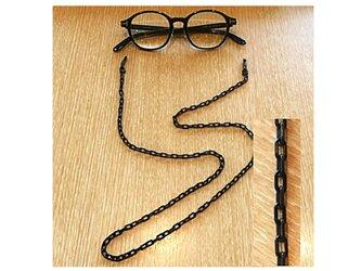 プラスチックメガネチェーン ブラック (マスクコード)の画像