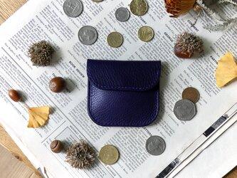 イタリア革のコインケース/パープルの画像
