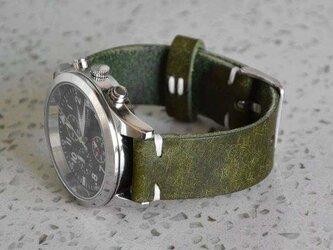 ワックスオイルスキン本革バンド時計ベルト applewatchアップルウォッチ対応 高級革 革 メンズの画像