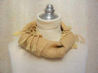 草木染毛糸の手織りマフラー M-131の画像