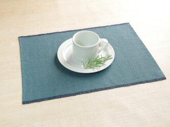 手織りリネンランチョンマット アンティークグリーンの画像