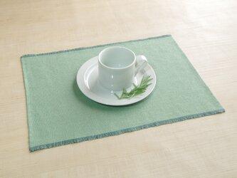 手織りリネンランチョンマット 若草色の画像