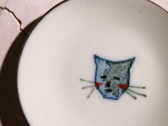 豆皿(10-318)猫の画像