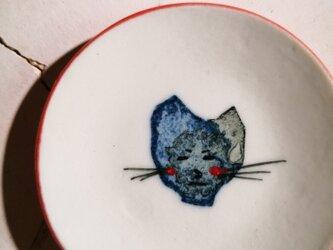 豆皿(10-321)猫の画像