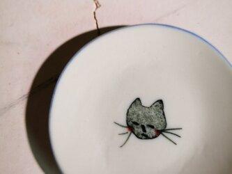 豆皿(10-322)猫の画像