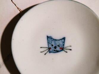 豆皿(10-324)猫の画像