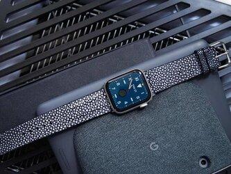 【高級革使用】スティングレイ エイ革 Applewatchベルト 腕時計 バンド 本革の画像