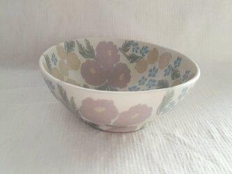 練上 牡丹薔薇  小鉢 マット釉薬 の画像