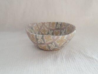 花菱文 猪口 マット釉薬の画像
