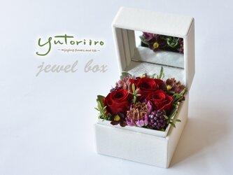 【贈り物に】バラのジュエルボックス 深紅の画像