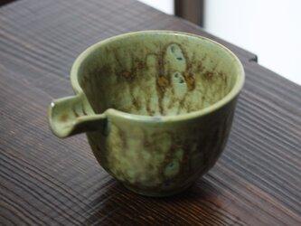 イラボ模様の枯れ葉色片口(高め)の画像