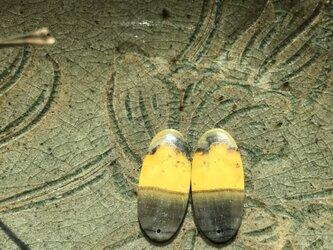 ナチュラル バンブルビージャスパーその②イヤリングピアス・ノンピアス用ペア+金具キット  非加熱 ナチュラル 44.3カラットの画像