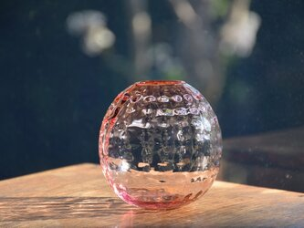 ワッフル丸花瓶~ピンク~の画像