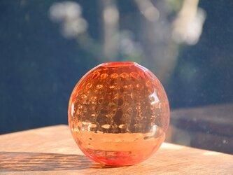 ワッフル丸花瓶~赤~の画像