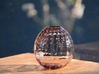 ワッフル丸花瓶~むらさき~の画像