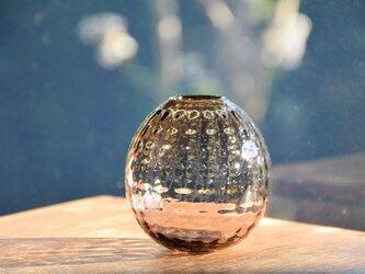 ワッフル丸花瓶~オリーブ・ブラウン~の画像