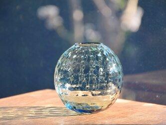ワッフル丸花瓶~ブルー~の画像