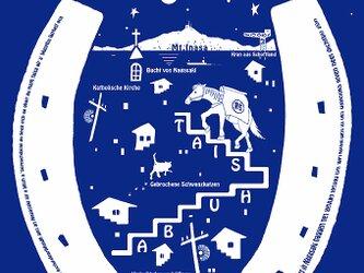 何回でも使用可!デザイン・ファイル(PNG)「長崎の街と対州馬」各国語ver ホワイト 13枚の画像