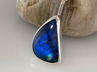 神秘の宝石◆ラブラドライト◆Silver Necklace2の画像