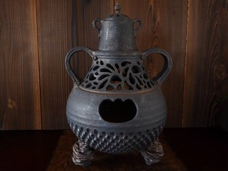 燻し金彩丁子風炉2の画像