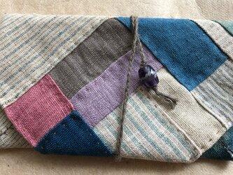 手織りヘンプ紐式財布大P2-4の画像