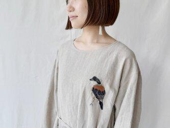 【フリーサイズ 刺繍リネンワンピース】Oliviaの画像